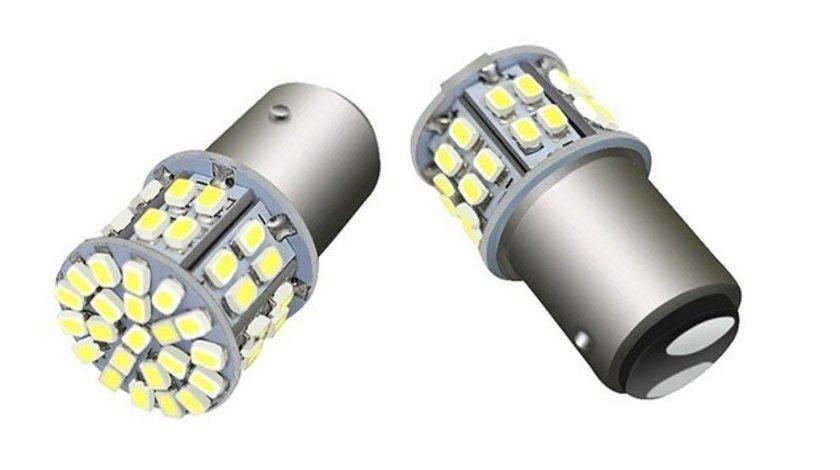 Bec LED cu doua faze 50SMD lumina alba BAY15D 24V AutoCars