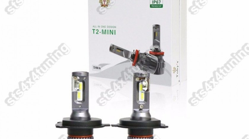 BEC LED H4 200W/8000LM [T2-MINI][2-BUC]
