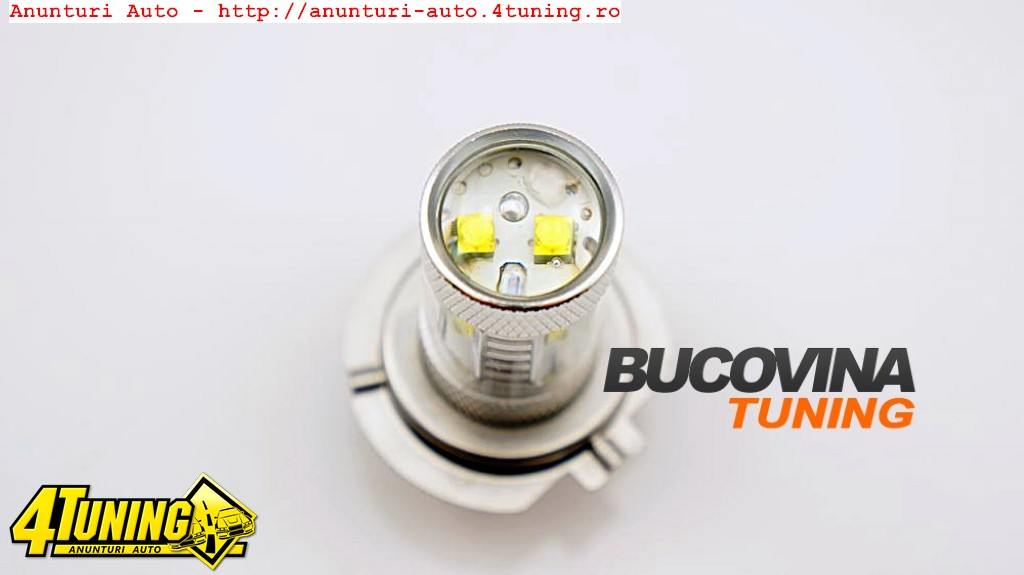 BEC LED H7 ROSU CREE - 80 WATTS - 149 LEI