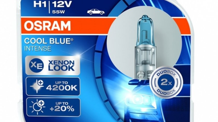 Bec Osram H1 12V 55W Cool Blue Intense 64150CBI-HCB Set 2 Buc