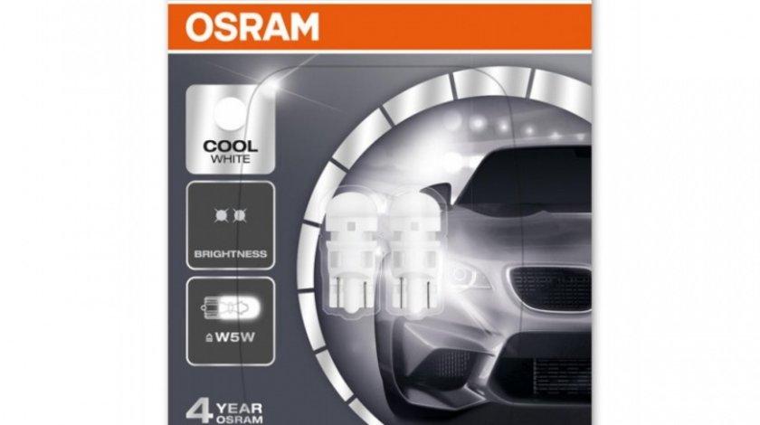 Bec Osram Ledriving W5W 12V 1W 6000K Set 2 Buc 2880CW-02B