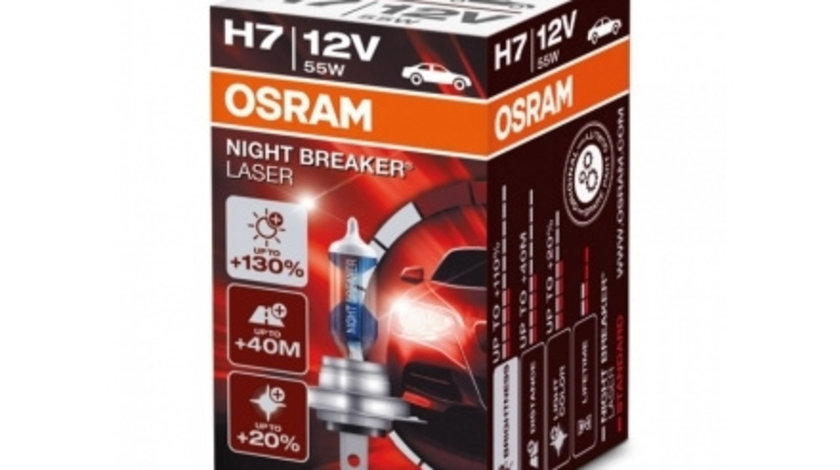 Bec Osram Night Breaker Laser H7 12V 55W