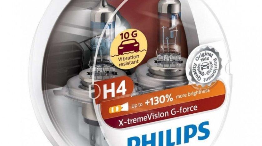 Bec Philips H4 P43T 12V 60/55W G-Force +130% Set 2 Buc 12342XVGS2