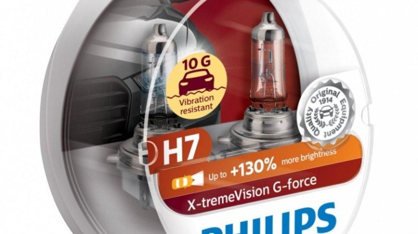 Bec Philips H7 12V 55W G-Force +130% Set 2 Buc 12972XVGS2