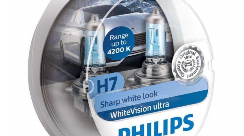 Bec Philips H7 12V 55W Whitevision Ultra 4200K 12972WVUSM