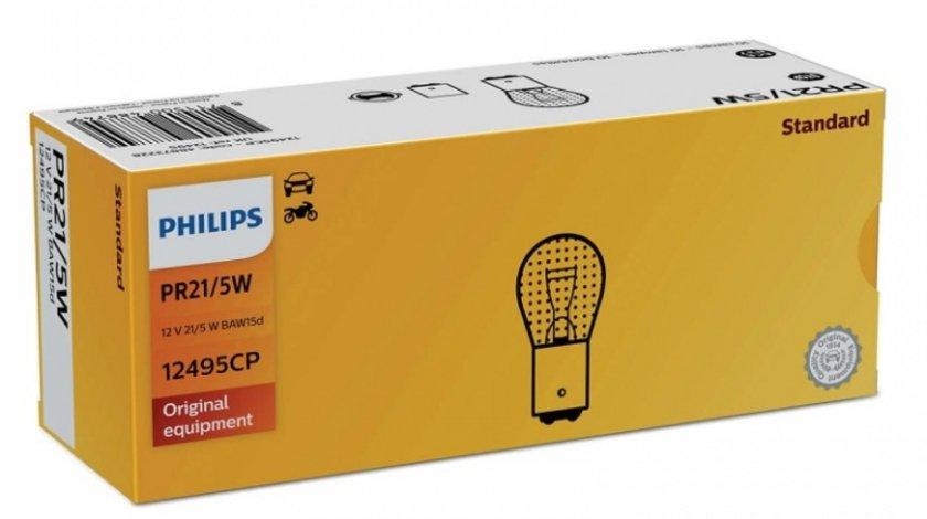 Bec Philips PR21/5W Rosu 12V 12495CP