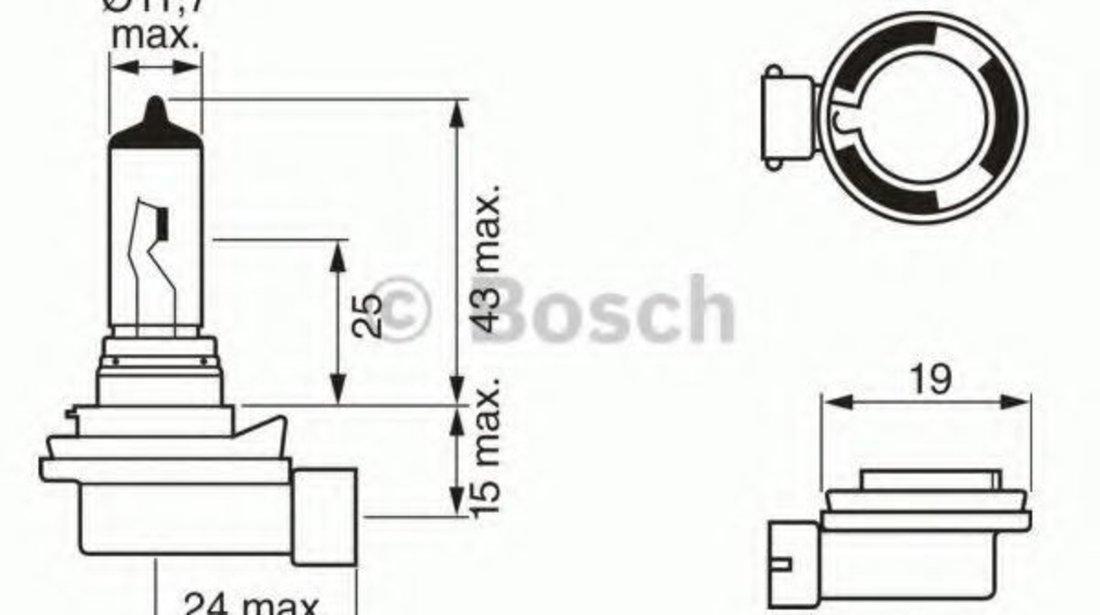 Bec, proiector ceata BMW Seria 3 Compact (E46) (2001 - 2005) BOSCH 1 987 302 081 produs NOU