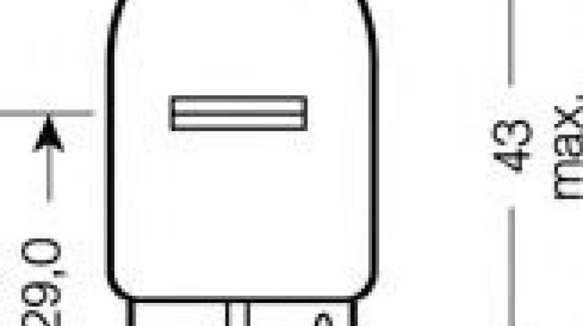 Bec, semnalizator MAZDA 3 (BK) (2003 - 2009) OSRAM 7505-02B produs NOU