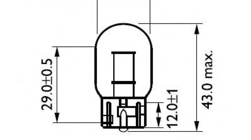 Bec, semnalizator MITSUBISHI LANCER Combi (CS) (2003 - 2008) PHILIPS 12065B2 produs NOU