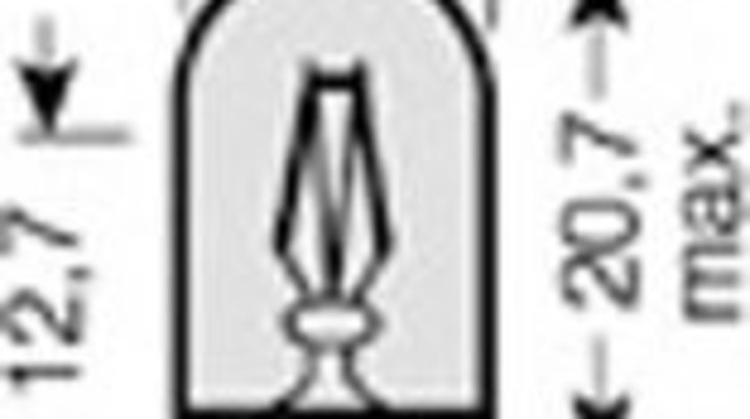 Bec, semnalizator OPEL MERIVA (2003 - 2010) OSRAM 2827-02B produs NOU