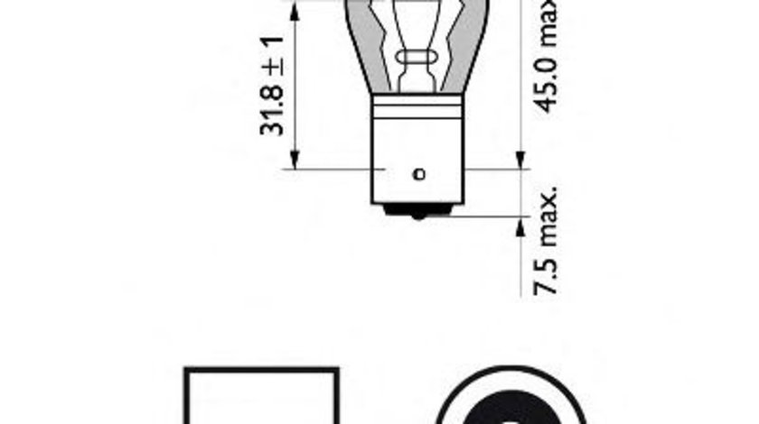 Bec, semnalizator OPEL MERIVA (2003 - 2010) PHILIPS 12496SVB2 produs NOU