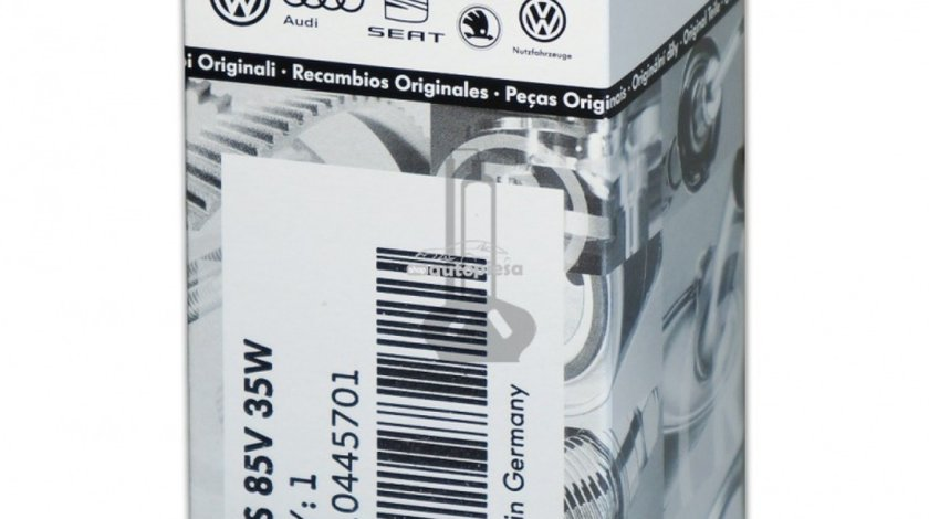 Bec Xenon Original VW D2S 85V 35W N10445701 piesa NOUA