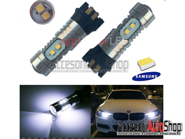 Becuri cu LED PW24W BMW Seria 3 F30 F31 2012+ DRL