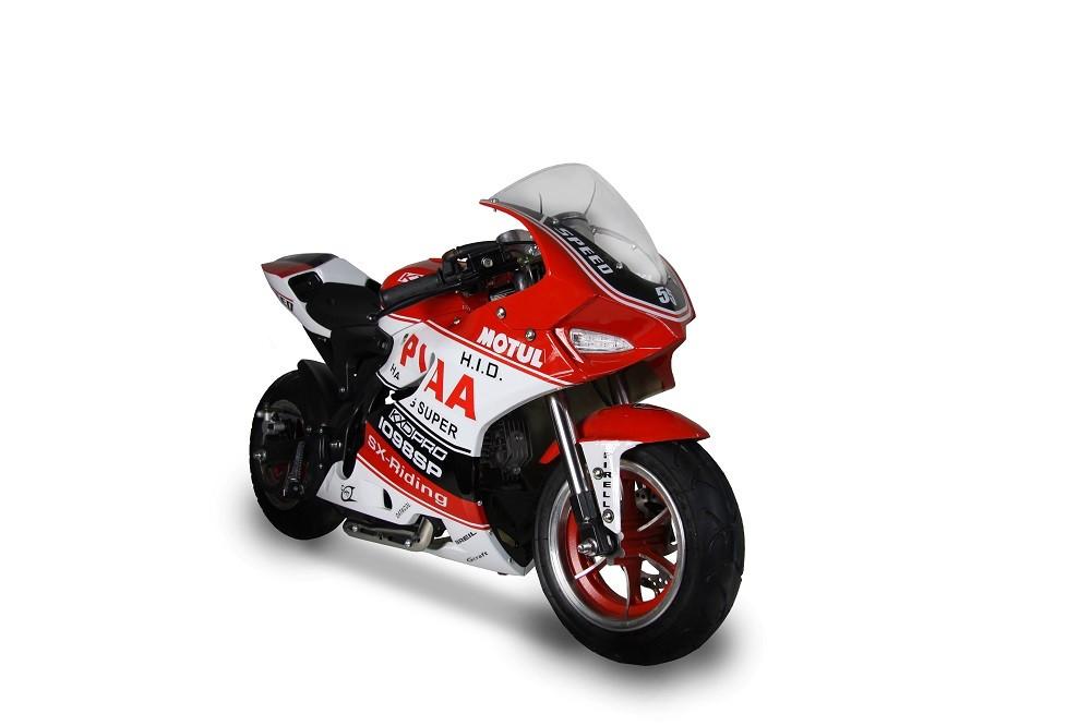 BEMI RO comercializeaza MIDI MOTO CBR55 copii Speed Bike Pocket 4T ! pornire buton !