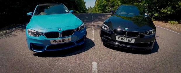 Benzina sau motorina? Duel inedit intre noul BMW M3 si ultimul Alpina D3