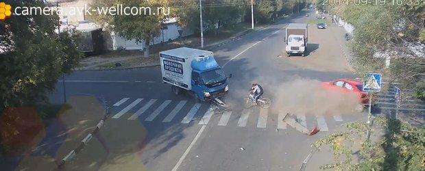 Biciclistul cu 9 vieti tocmai si-a irosit una