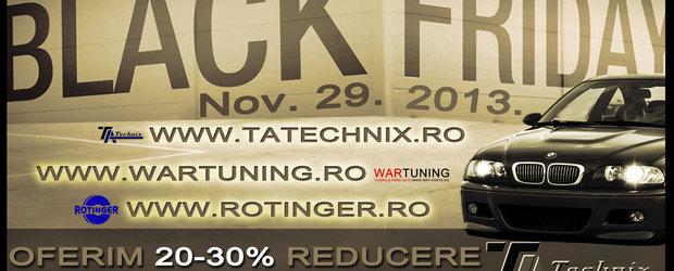 Black Friday cu reducere 20 si 30% pentru suspensiile Ta-Technix