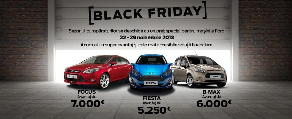 Black Friday in reprezentantele Ford: avantaj de 7000 de Euro la cumpararea unui Focus