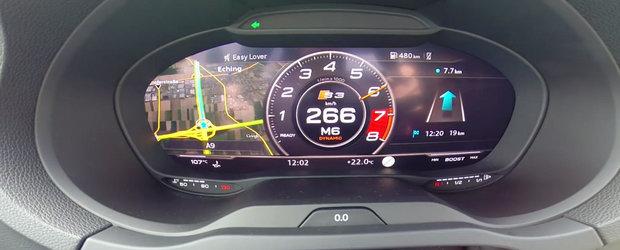 Blana pe autostrada: 0 - 266 km/h la bordul noului Audi S3 Facelift