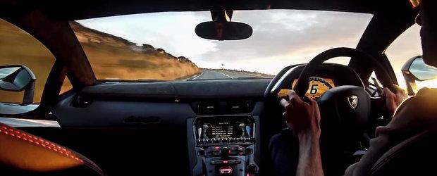 Blana pe soselele din Isle of Man. Cu un Lamborghini Aventador SuperVeloce.
