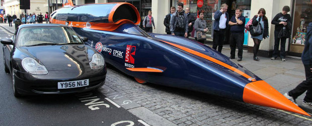 Bloodhound SSC, masina care va merge cu 1600 km/h e aproape gata
