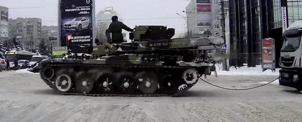 Blyat! Sau cum se fac accidentele iarna, in Rusia, cand soferii au sange in vodca