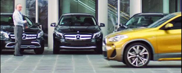 BMW 1- Mercedes 0. Ce au facut bavarezii in cea mai noua si amuzanta reclama pentru SUV-ul X2