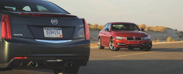 BMW 328i vs. Cadillac ATS: batalia sedanurilor din clasa medie. Cine e castigator?