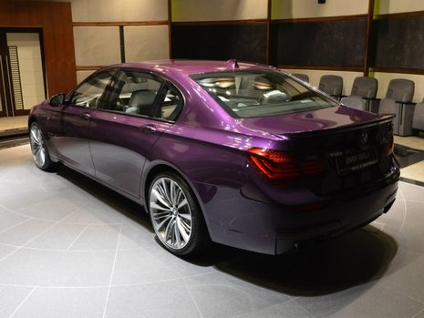 BMW 760Li in Twilight Purple
