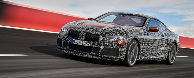 BMW a publicat primele imagini oficiale cu noul Seria 8, dar nu ne ajuta la nimic. Masina este in continuare camuflata