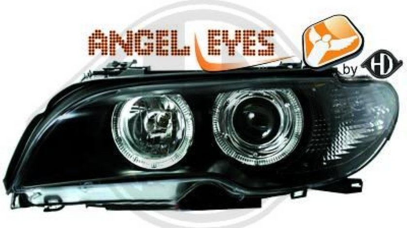 BMW E46 COUPE FACELIFT 2003 PLUS ANGEL EYES STOP LED GRILE NOI IMPORT GERMANIA