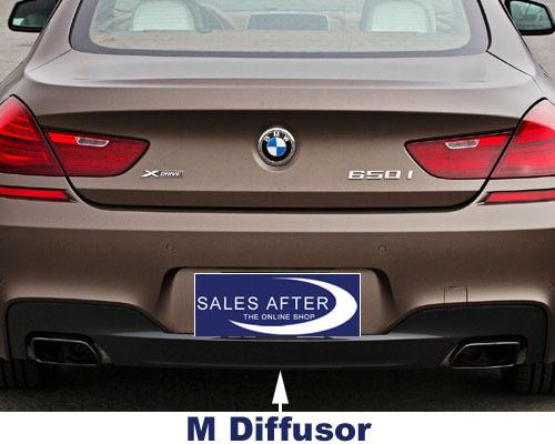 BMW F10 Difuzor bara spate M dark shadow  pentru esapament dublu