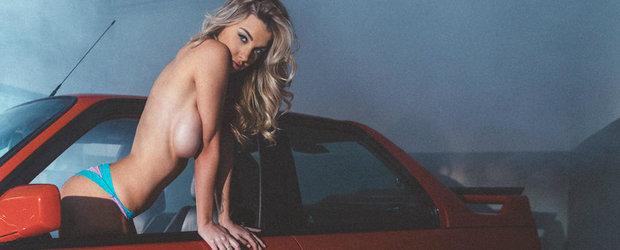 BMW M3 E30 x Emily Sears: Pictorial incantator cu doua bombe sexy