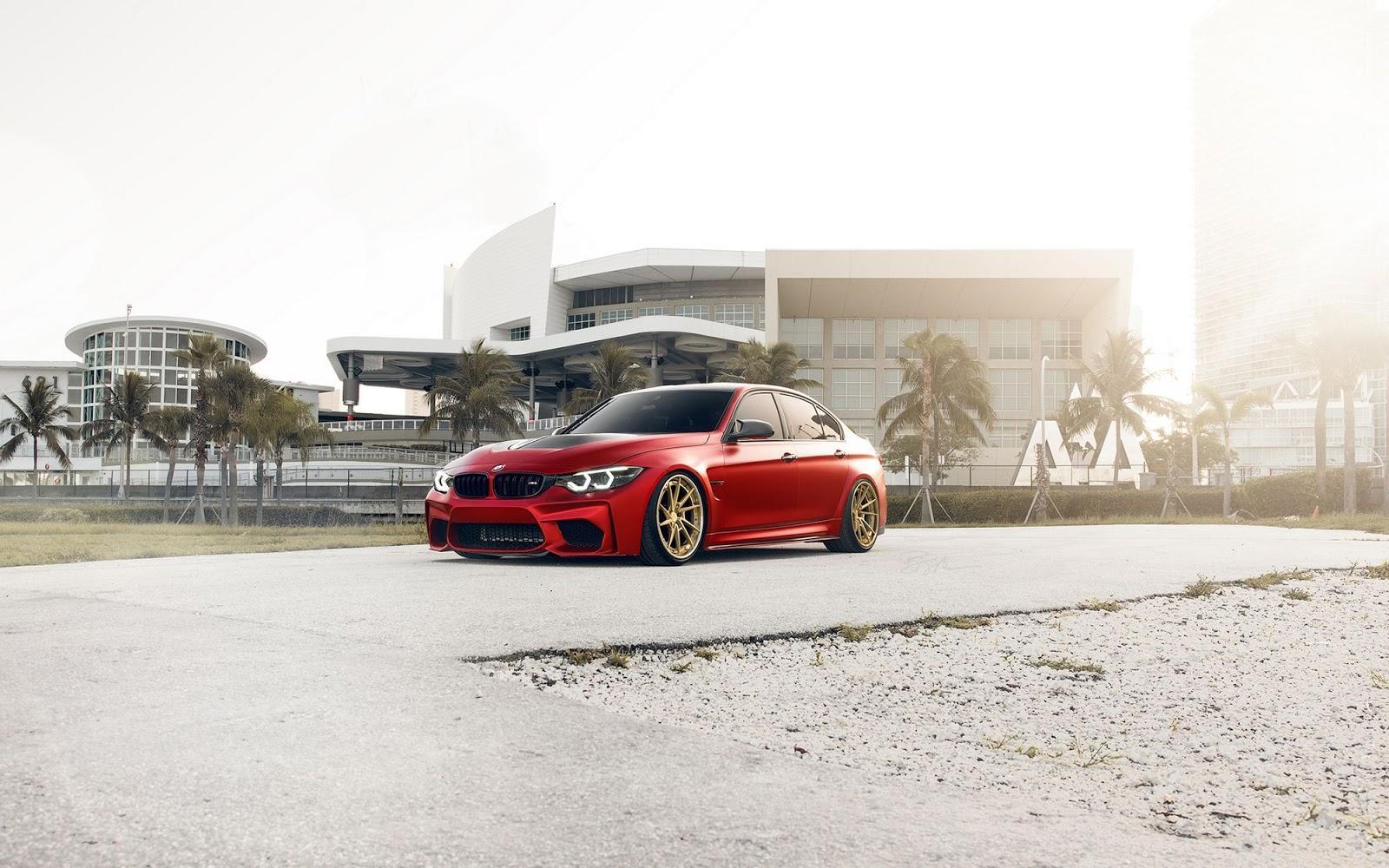 BMW M3 in nuanta Satin Red - BMW M3 in nuanta Satin Red