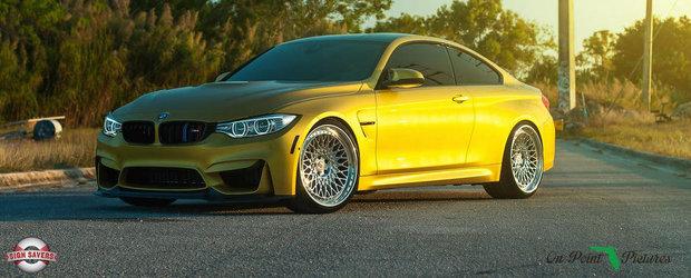 BMW M4 cu jante clasice de la HRE: Fabulos sau ce?