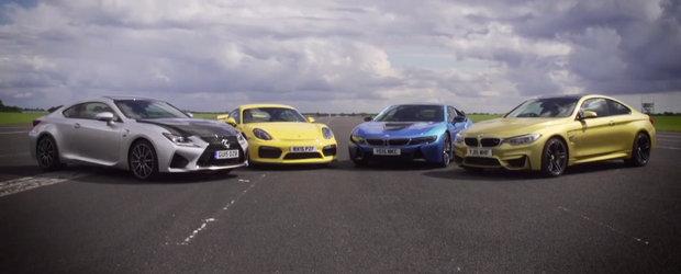 BMW M4. Lexus RC F. Porsche Cayman GT4. BMW i8. DRAG RACE!