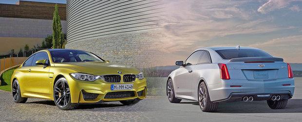 BMW M4 vs Cadillac ATS-V: Ce alegi si de ce?