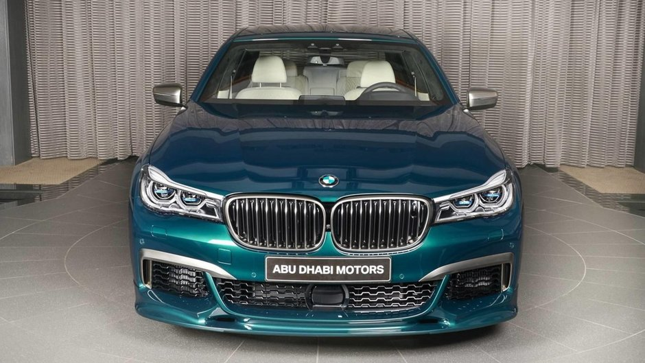 BMW M760Li xDrive in Boston Green
