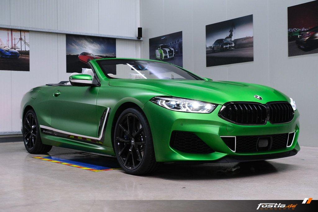 BMW M850i Cabriolet Matte Krypton Green - BMW M850i Cabriolet Matte Krypton Green