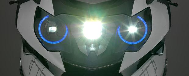 BMW ne arata viitorul pe 2 roti: casca cu head-up display si faruri moto cu laser