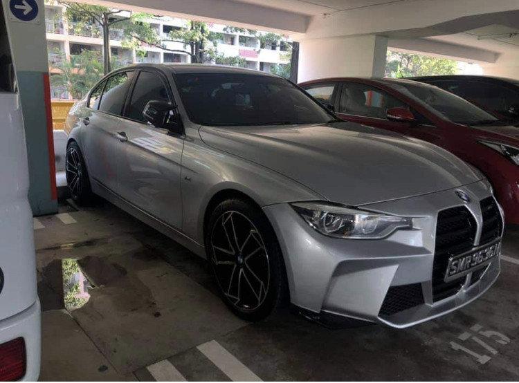 BMW Seria 3 F30 cu grila de M4 G82
