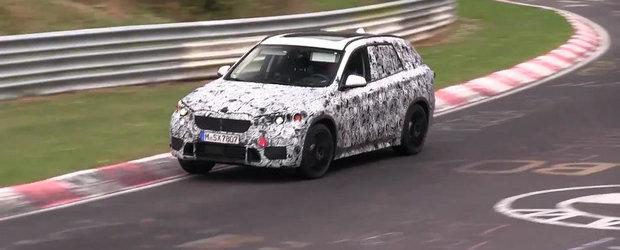BMW testeaza la Nurburgring noul X1 cu tractiune fata