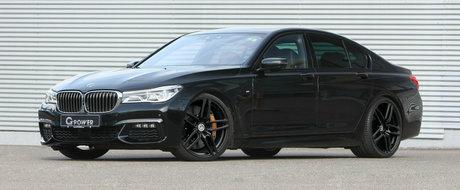 BMW-ul cu patru turbine a intrat in atelierele G-Power. A iesit o limuzina de 460 de cai cu jante din aliaj militar