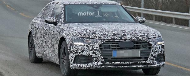 BMW-ul Seria 5 se mai poate bucura putin. Noul Audi A6 surprins in premiera in teste
