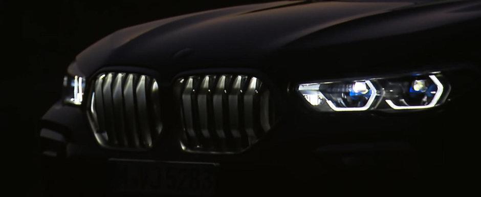 BMW X6, de-acum si cu grila iluminata. VIDEO in detaliu cu noua generatie a SUV-ului german