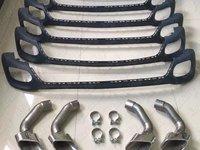 BMW X6 F16 ORNAMENT TOBA ( TIPSURI ESAPAMENT ) + DIFUSOR DIFFUSER BARA SPATE