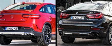 BMW X6 sau Mercedes-Benz GLE Coupe: care pe care?