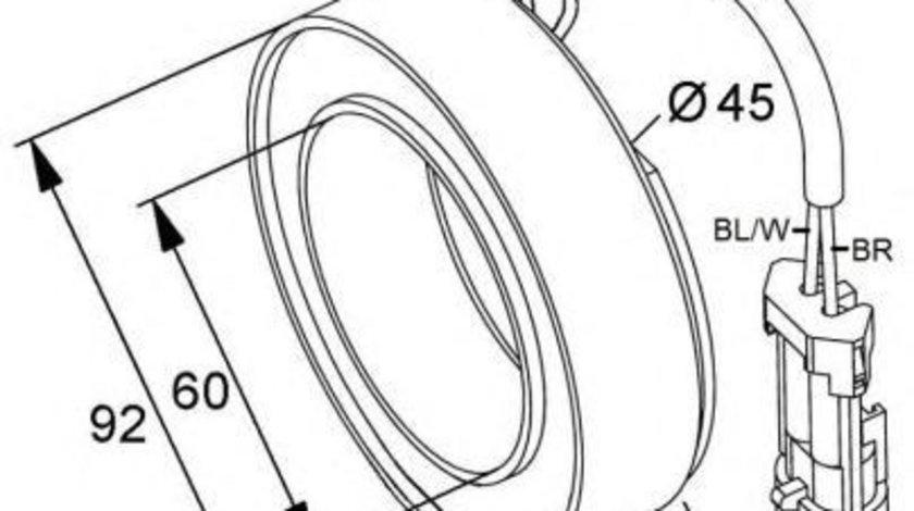 Bobina ambreiaj magnetic compresor OPEL Corsa C NRF 38420