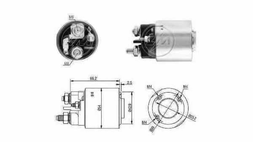 Bobina cuplare electromotor PEUGEOT 206 CC 2D ERA 227233