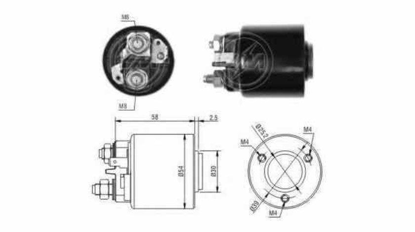 Bobina cuplare electromotor PEUGEOT 206 hatchback 2A/C ERA 227383